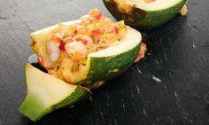Receta de Calabacines rellenos de verduras