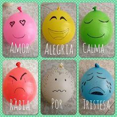 DE GRAPES pas a pas en l'educació: Globus emocionals Spanish Teaching Resources, Teaching English, Crafts To Do, Crafts For Kids, Diy Crafts, Yoga For Kids, Art For Kids, Feelings Games, Feelings Activities