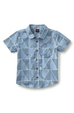 Tea Collection 'Mosaic' Short Sleeve Sport Shirt (Toddler Boys & Little Boys) available at #Nordstrom