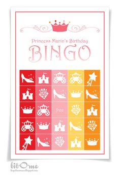 Bit-O-Me: Pink Princess Bingo Party {The Game}