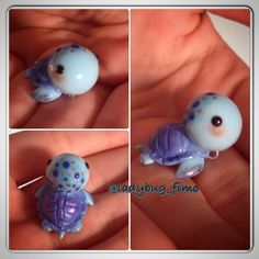 Polymer clay kawaii turtle kame tortoise sea turtle chibi