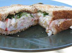 Imitation Crabmeat Sandwich. Photo by Redsie