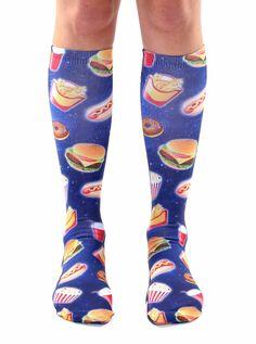 Fast Food Galaxy Knee High Socks