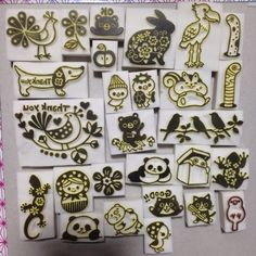 kotori stamps. Absolutely amazing work! inspiration only
