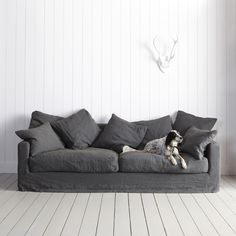 In classic ardoise, beautiful gris and stunning ecro; the Antibes sofa…