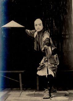 Performing a samurai, Sano in Tochigi-ken
