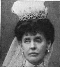 The Hon. Charlotte Knollys, Lady of the Bedchamber to Queen Alexandra. This is the only image I've seen of this lady wearing her tiara, and very little seems to be known of it. Though I must say that the tiara does remind me of some of Boucheron's creations.