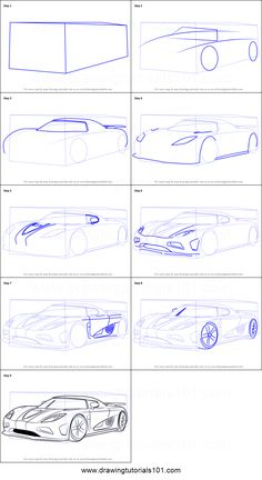 How to Draw Koenigsegg Agera R step by step printable drawing sheet to print. Learn How to Draw Koenigsegg Agera R