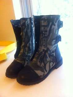 these will be her boots under the shin guards.