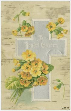 A joyful Easter.  [[Yellow flowers]] (ca. 1907)