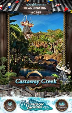 Don't Miss Castaway Creek at Disney's Typhoon Lagoon Waterpark #typhoonlagoon #disneywaterparks Let us help you plan a trip to Disney by requesting at quote at http://destinationsinflorida.com/pinterest