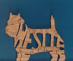Westie Dog Puzzle by DukesScrollSaw on Etsy, $5.00