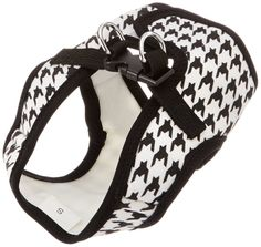 Parisian Pet Step-In Dog Harness, Small, Black Houndstooth *** Check out the image by visiting the link.