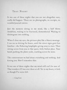 That Night --Lang Leav
