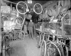 EARLY BICYCLE SHOP INTERIOR 1910s PHOTOGRAPH | eBay