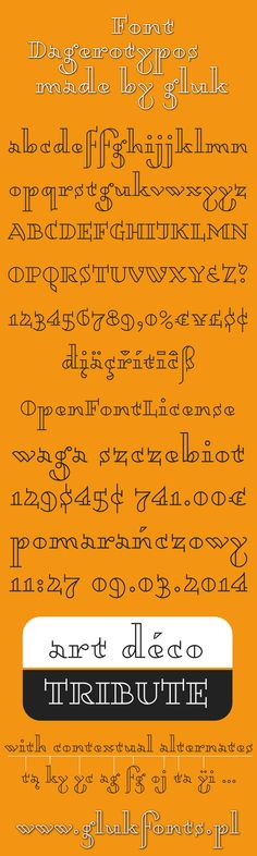 Font Dagerotypos from glukfonts.pl