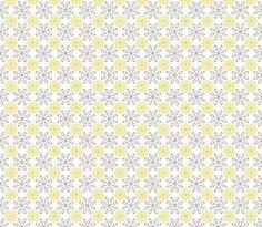 Multi Dots - Yellow © Kristopher K  2010 fabric by kristopherk on Spoonflower - custom fabric