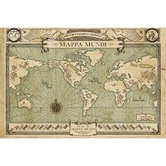Fantastic Beasts Map Maxi Poster 61 x 91.5 cm