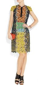 Peter Pilotto, Cut out lace effect silk organza dress
