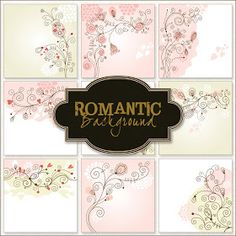 Friendly Scrap: New Freebies 9 Romantic Backgrounds