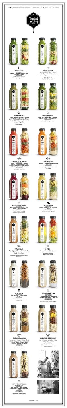 Teresa& Juicery - Pressed Juices & Healthy Foods - One day, I'll go. for beginners juice Healthy Juices, Healthy Smoothies, Healthy Drinks, Smoothie Recipes, Healthy Recipes, Healthy Foods, Juice Recipes, Milk Shakes, Juice Packaging