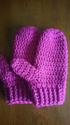 A quick and easy crochet mitten with a ribbed cuff for donation or personal use. Keeping your hands warm is just as important as covering your head when temperatures are low.