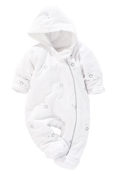 Buy White Velour Star All-In-One (0-18mths) from the Next UK online shop