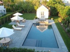 88 Modern Pool House Decorating Ideas On A Budget - Garten - Piscinas Modern Pool House, Pool House Decor, Modern Pools, Backyard Pool Landscaping, Backyard Pool Designs, Small Backyard Landscaping, Landscaping Ideas, Acreage Landscaping, Landscaping Software