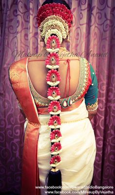 Hairstyles bridal indian hindus new Ideas - Wedding Bridal Hairstyle Indian Wedding, South Indian Bride Hairstyle, Bridal Hair Buns, Wedding Braids, Indian Bridal Hairstyles, Bride Hairstyles, Trendy Hairstyles, Blue Ombre Hair, Hindus