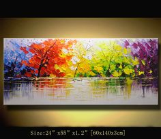 Original Abstract Painting, Modern Textured Painting,Impasto Landscape Textured Modern Palette Knife Painting,Painting on Canvas byChen g010 on Etsy, $405.78 AUD