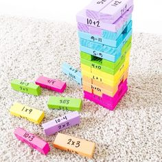 Teaching Activities, Math Resources, Classroom Activities, Teaching Math, 3rd Grade Classroom, Third Grade Math, Math Classroom, 5th Grade Math Games, Jenga