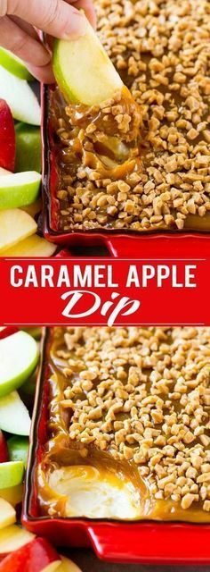 Four Kitchen Decorating Suggestions Which Can Be Cheap And Simple To Carry Out Caramel Apple Dip Recipe Dessert Dip Recipe Apple Recipe Caramel Apple Recipe Dessert Dips, Dessert Aux Fruits, Appetizer Dessert, Dinner Dessert, Breakfast Dessert, Fall Recipes, Holiday Recipes, Snack Recipes, Cooking Recipes