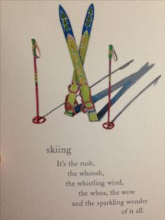 This poem says it all. Come skiing with www.skibug.co.uk