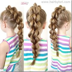 3 Strand Pull Through Braid - learn on hairbylori.com