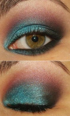Smokey with Aqua #makeup