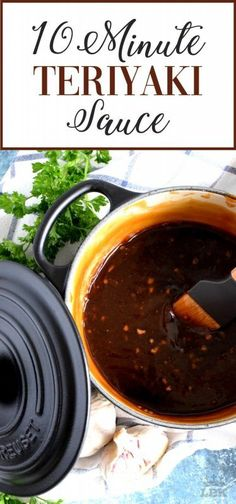 Homemade sauce is always better and you can't beat this 10 Minute Teriyaki Sauce! Chances are you'll have everything you'll need right in your pantry! Chicken Teriyaki Sauce, Homemade Teriyaki Sauce, Homemade Sauce, Japanese Teriyaki Sauce Recipe, Best Teriyaki Sauce, Ginger Beef, Ginger Sauce, Kitchen Recipes, Sauces