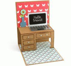 Silhouette Online Store - View Design #59932: a2 desk pop up card
