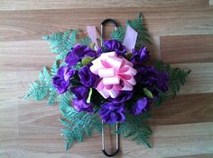 Extra small 2 prong headstone saddle by GuardianFlowers on Etsy, $14.99