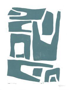 Modern and Abstract Shapes - Slate-Grayish Blue || Statement Goods #art #arte #modernart #design #wallart #homedecor #contemporary