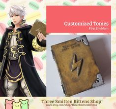 Fire Emblem  Customized Tomes by ThreeSmittenKittens on Etsy