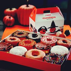 Halloween Dunkin Donuts (would make my own donuts and crush Halloween candy on some of them)