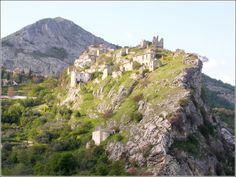 The village of  Pescosansonesco - Abruzzo, Italy