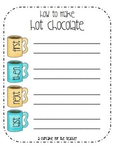 How to Make Hot Chocolate-cute writing exercise to go with Christmas books like Polar Express