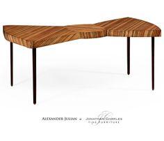 Satinwood bowtie coffee table #hpmkt #jcfurniture #jonathancharles #Furniture #InteriorDesign #decorex #AlexanderJulian