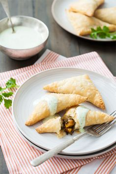 Vegetarian Lentil and Sweet Potato Empanadas. Swap in some Plain 0% Chobani Greek Yogurt for that sour cream!