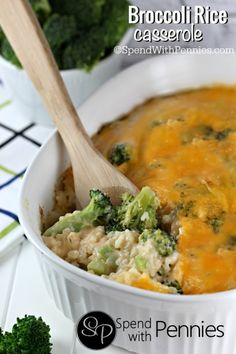 Broccoli and rice in a an easy  cheesy home-made sauce!  Perfect as a side or add in some cooked chicken for a  simple dinner.