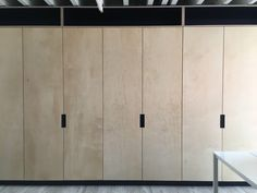 Birch Plywood used for cabinet or wardrobe doors. Trademaster is a distributor of the highest quality designer birch plywood. Diy Cupboard Doors, Hallway Cupboards, Diy Cupboards, Hallway Storage, Cupboard Storage, Kitchen Cabinets, Plywood Interior, Plywood Walls, Plywood Cabinets