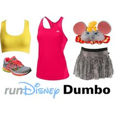 """""""Disney Dumbo Running Outfit"""" by mamaspartydress on Polyvore"""