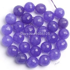"""Free Shipping 14mm Pretty Natural Light Purple Stone Faceted Round Shape DIY Gems Loose Beads Strand 15"""" Jewelry Making w1654"""