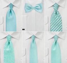 Wedding Ties In Tiffany Blue